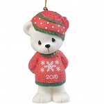 Beary Cozy Christmas Dated 2016 Ornament 161007