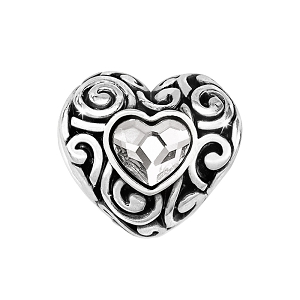 Swirly Love Bead Silver JC0212