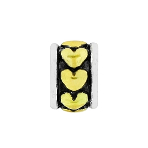 Hearts Spacer Gold J91221