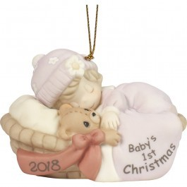 Baby's First Christmas 2018 Ornament Girl 181005