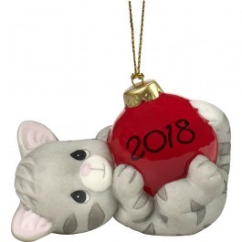 May Your Holidays Be Purr-fect 2018 Dated Ornament 181007