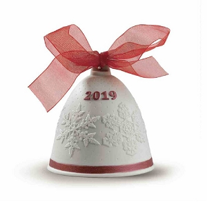2019 Annual Christmas Bell Ornament Red 18448