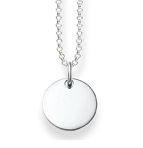 Love Bridge Plain Silver Necklace LBKE0002-001-12 45cm
