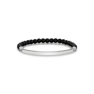 Love Bridge Silver & Black Bracelet LBA0001-023-11 18.5cm
