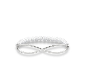 Love Bridge White Agate Infinity Bracelet LBA0004-130-14 17.5cm