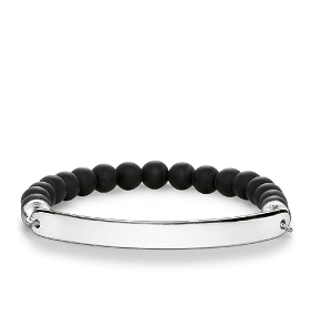 Love Bridge Matt Black Obsidian Bracelet LBA0014-023-11 17.5cm