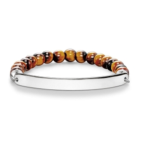 Love Bridge Silver & Tiger's Eye Bracelet LBA0014-045-2 18.5cm