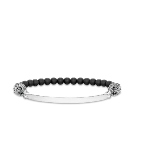 Love Bridge Blackened Silver & Onyx Dragon Bracelet LBA0017-812-11 17.5cm