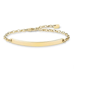 Love Bridge Plain 18ct Gold Plated Bracelet LBA0008-413-12 21cm