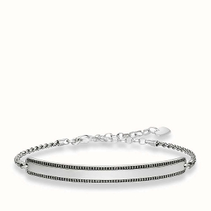 Love Bridge Blackened Silver Bracelet LBA0009-643-11 21cm