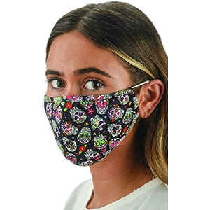 Snoozies Calavera Reusable Face Covering Mask w/ 4 Filters