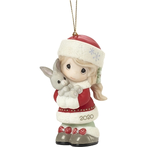 2020 Dated Girl Ornament Every Bunny Loves A Christmas Hug 201002