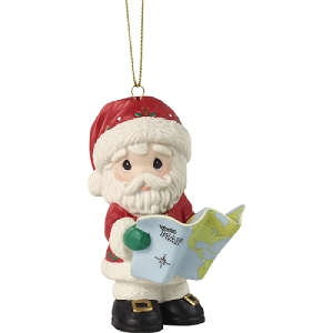 Joy To The Whole Wide World Annual Santa Ornament 201012