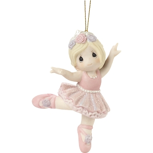 Believe In Yourself Blonde Ballerina Ornament  201038