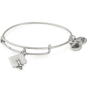 Graduation Cap Charm Bangle Rafaelian Silver