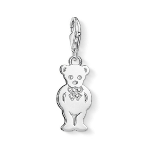 Bow Tie Teddy Bear Charm DC0023-725-14