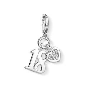 Diamond Lucky Number 18 Charm DC0034-725-14