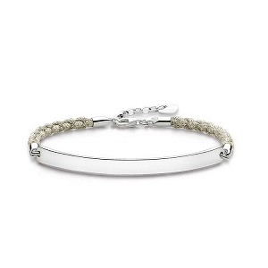 Love Bridge Sterling Silver Beige Love Bridge Bracelet LBA0029-173-19 19cm