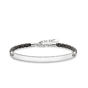 Love Bridge Silver & Mokuba Ribbon Bracelet LBA0029-173-11 19cm