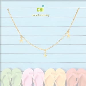 Anklet Sea Star Dainty + Dangle Gold