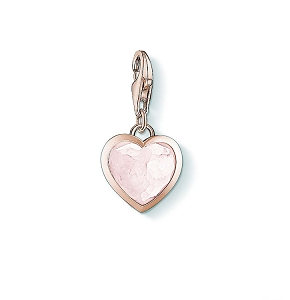 Pink Heart Rose Gold Charm 1363-903-14