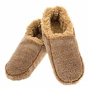 Mens Two Tone Fleece Lined Slippers Camel Small 7 - 8