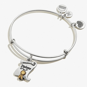 Wizard of Oz Diploma Charm Bangle Two Tone