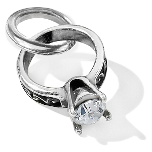 Diamond Ring Charm Silver J92662