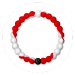Lokai Red White Medium