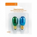 Village Replacement Bulbs Blue & Green Set of 2 4030893