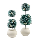 Double Round Topiary Tree Set of 2 4031879