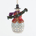 Snowman With Evergreen Bough Hanging Ornament