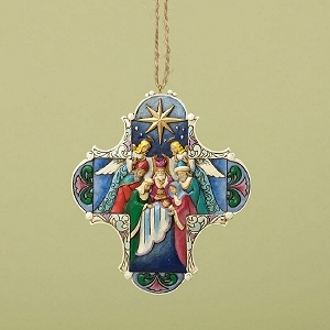 Nativity Cross Hanging Ornament 4034418