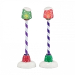 Gumdrop Park Street Lights Set of 2 4038862 Retired
