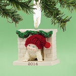 Snowbabies Sneaking Down The Chimney Ornament 2014 4039826
