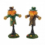 Halloween Lit Scarecrow Lamps Set of 2 4047617