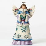 Blessings Fall Upon You Angel Holding Snowflakes 4047658