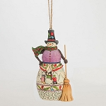 Snowman With Broom Hanging Ornament 4047793