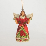 Christmas Beauty Poinsettia Angel Hanging Ornament 4047795