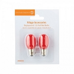 Replacement Light Bulbs Red Set of 2 4048110