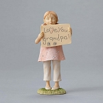 Love You Grandpa Girl Figurine 4050137