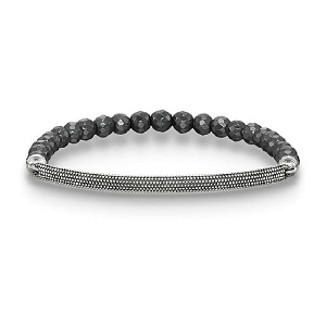 Love Bridge Hematite Bracelet LBA0010-808-5 18.5cm