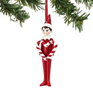 Elf On The Shelf Candy Cane Heart Ornament 4051641