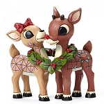 Rudolph and Clarice with Wreath 4053069