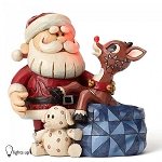 Santa with Rudolph in Toy Bag 4053070