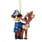 Rudolph With Elf In Sunglasses Ornament 4053075