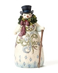 Victorian Snowman with Wreath 4053679