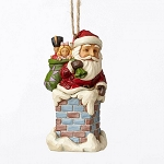 Santa In Chimney Ornament 4053829
