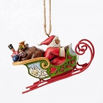 Santa In Sleigh Ornament 4053836