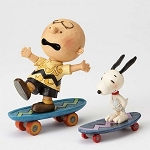 Skateboarding Buddies Charlie Brown and Snoopy 4054080